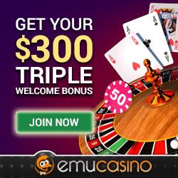 Emu Casino Triple bonus