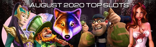 Most played slot games of August 2020