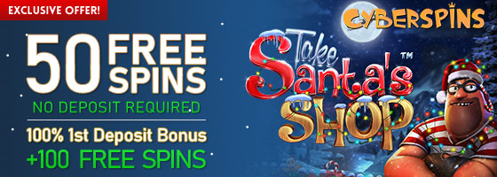 50 Free spins from Cyberspins Casino